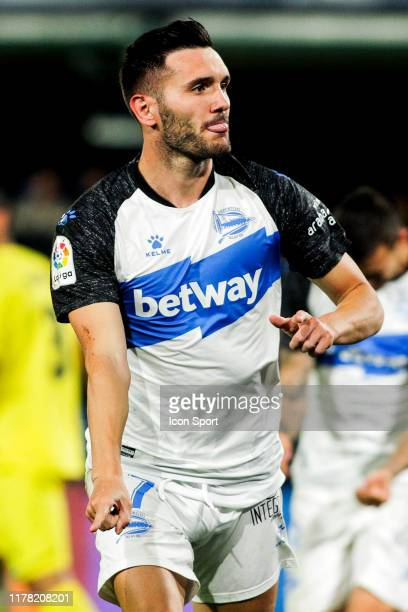 Lucas Perez of Deportivo Alaves celebrates his goal during the Liga match between Villarreal and Alaves at Estadio de la Ceramica on October 25, 2019...