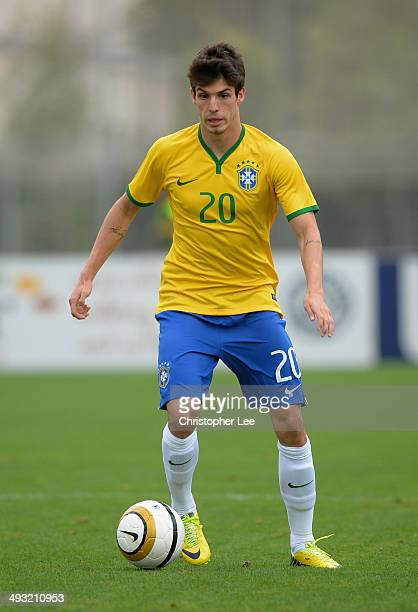 Lucas Piazon of Brazil in action during the Toulon Tournament Group B match between Brazil and South Korea at the Leo Legrange Stadium on May 22 2014...