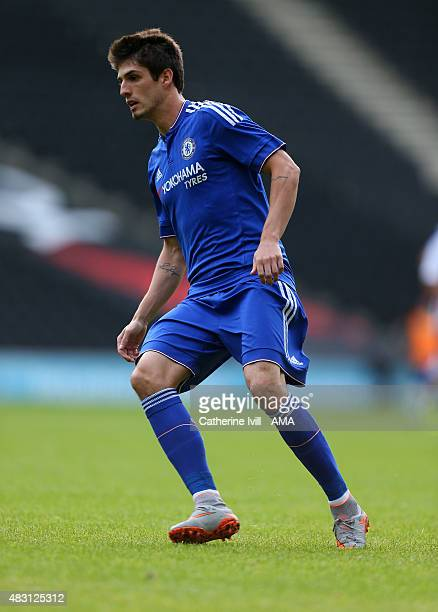 Lucas Piazon of Chelsea during the preseason friendly between MK Dons and a Chelsea XI at Stadium mk on August 3 2015 in Milton Keynes England