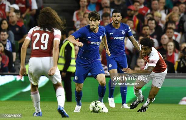 Lucas Piazon of Chelsea during the Preseason friendly International Champions Cup game between Arsenal and Chelsea at Aviva stadium on August 1 2018...