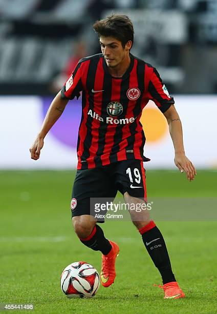 Lucas Piazon of Frankfurt controles the ball during the Bundesliga match between Eintracht Frankfurt and FC Augsburg at CommerzbankArena on September...