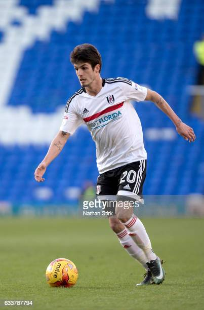 Lucas Piazon of Fulham in action during the Sky Bet Championship match between Birmingham City and Fulham at St Andrews Stadium on February 4 2017 in...