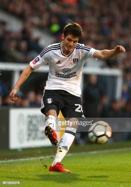 Lucas Piazon of Fulham in action during the The Emirates FA Cup Third Round match between Fulham and Southampton at Craven Cottage on January 6 2018...