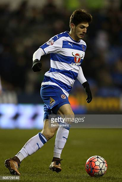 Lucas Piazon of Reading in action during The Emirates FA Cup Second Round match between Reading and Huddersfield Town at Madejski Stadium on January...