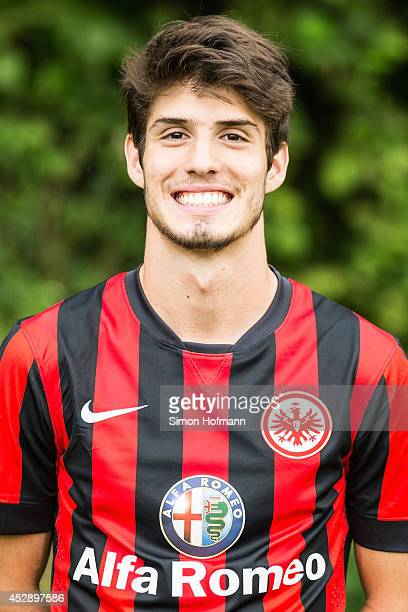 Lucas Piazon poses during the Eintracht Frankfurt Team Presentation at CommerzbankArena on July 29 2014 in Frankfurt am Main Germany