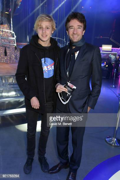 Lucas Portman and Antoine Arnault at the Naked Heart Foundation's Fabulous Fund Fair in London at The Roundhouse on February 20 2018 in London England