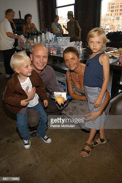 Lucas Portman Justin Portman Helena Christensen and Mingus Reedus attend Calvin Klein Spring 2006 Collection at Milk Studio on September 15 2005 in...