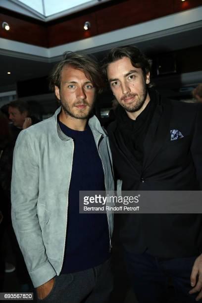"""Lucas Pouille and Maxime Leconte attend """"Trophee des Legendes"""" Dinner at Le Paquebot on June 7, 2017 in Paris, France."""