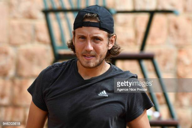 Lucas Pouille of France during the Masters 1000 Monte Carlo Day 1 at Monte Carlo on April 14 2018 in Monaco Monaco