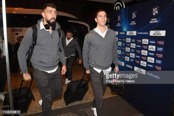 Lucas Pratto and Ignacio Fernandez of River Plate arrives to Brazil May 20 2019 in Curitiba Brazil River Plate will face Atletico Paranaense as part...