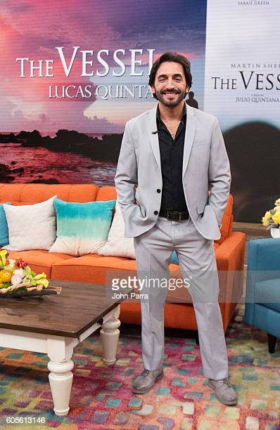 Lucas Quintana is on the set of Univisions Despierta America to promote The Vessel at Univision Studios on September 14 2016 in Miami Florida