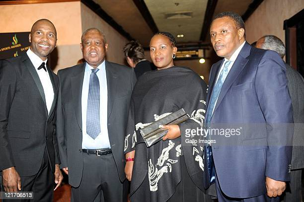 Lucas Radebe Molife Oliphant Nomsa Mahlangu and Irvin Khoza during the SA Sports Awards from Sun City Superbowl on August 21 2011 in Rustenburg South...