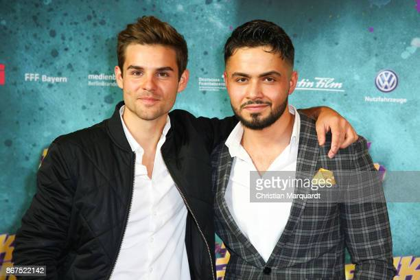 Lucas Reiber and Aram Arami attend the 'Fack ju Goehte 3' premiere at CineStar on October 28 2017 in Berlin Germany