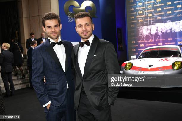 Lucas Reiber and Edin Hasanovic during the GQ Men of the year Award 2017 at Komische Oper on November 9 2017 in Berlin Germany
