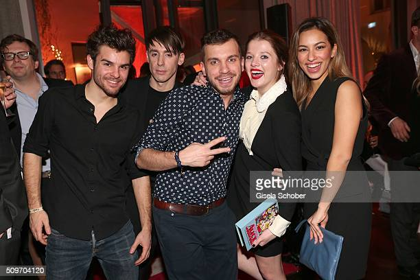 Lucas Reiber Kilian Kerner Edin Hasanovic Jella Haase and Gizem Emre during the 'Berlin Opening Night of GALA UFA Fiction' at Das Stue Hotel on...