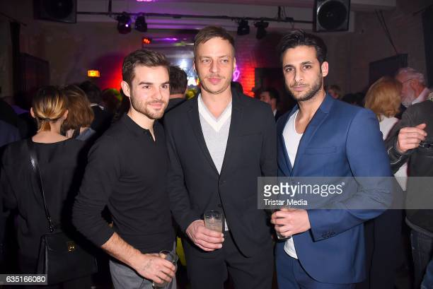 Lucas Reiber, Tom Wlaschiha and Karim Guenes attend the Pantaflix Party At The 67th Berlinale International Film Festival on February 13, 2017 in...