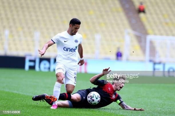 Lucas Rodrigo Biglia of Fatih Karagumruk in action against Haris Hajradinovic of Kasimpasa during Turkish Super Lig week 5 match between Fatih...