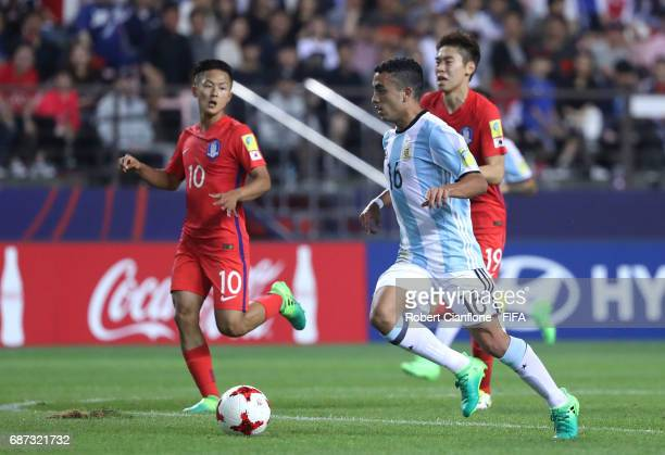 Lucas Rodriguez of Argentina runs with the ball during the FIFA U20 World Cup Korea Republic 2017 group A match between Korea Republic and Argentina...