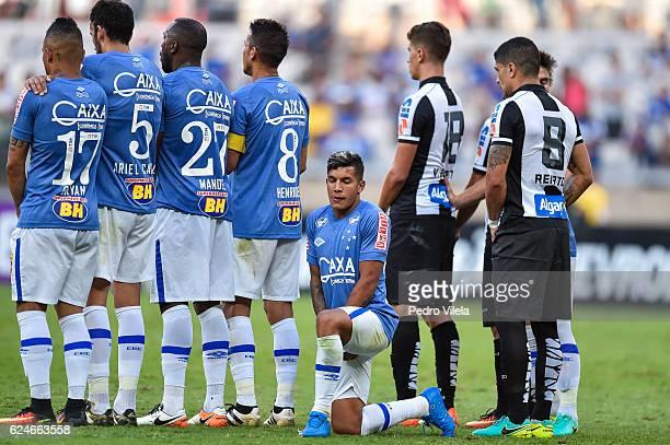 Lucas Romero of Cruzeiro a match between Cruzeiro and Santos as part of Brasileirao Series A 2016 at Mineirao stadium on November 20 2016 in Belo...