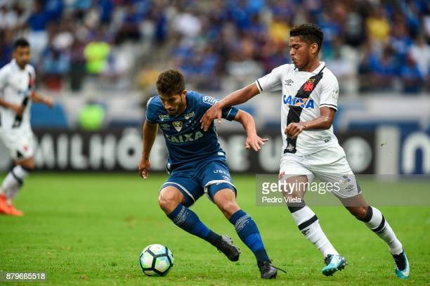 Lucas Silva of Cruzeiro and Henrique of Vasco da Gama battle for the ball during a match between Cruzeiro and Vasco da Gama as part of Brasileirao...