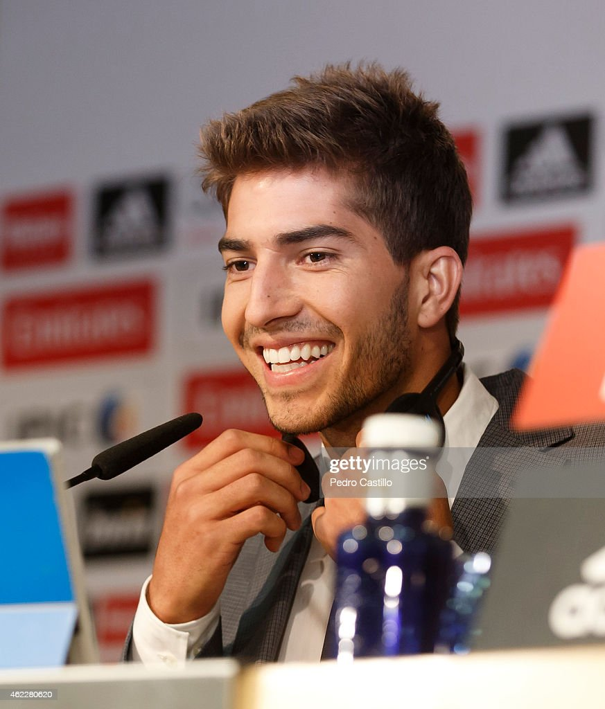 Lucas Silva: Lucas Silva Poses During A Press Conference After His