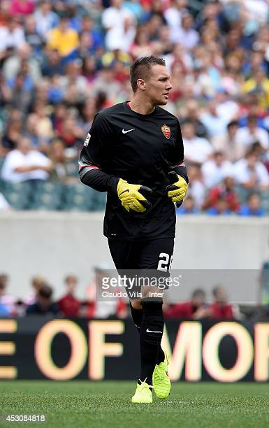 Lucas Skorupski of AS Roma in action during the International Champions Cup 2014 at Lincoln Financial Field on August 2 2014 in Philadelphia...