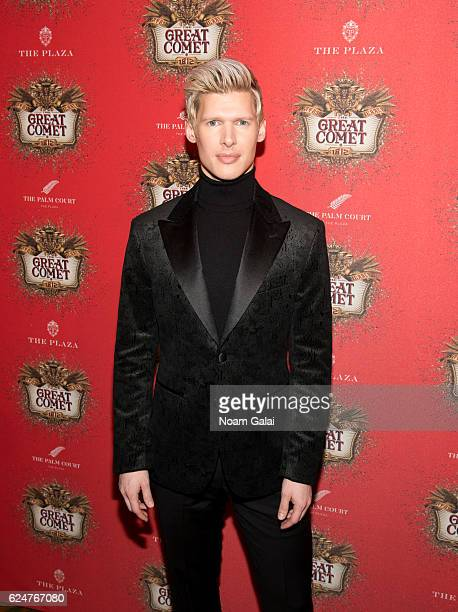 Lucas Steele attends the after party for the 'Natasha Pierre The Great Comet Of 1812' opening night on Broadway at The Plaza Hotel on November 14...