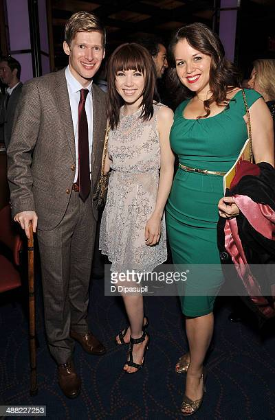 Lucas Steele Carly Rae Jepsen and guest attend the 29th Annual Lucille Lortel Awards at NYU Skirball Center on May 4 2014 in New York City