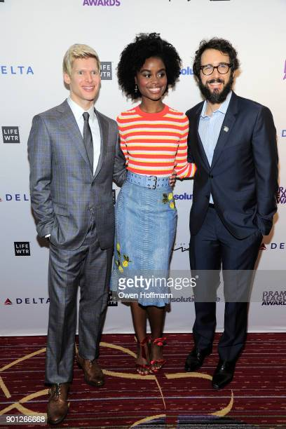 Lucas Steele Denee Benton and Josh Groban attend 83rd Annual Drama League Awards at Marriott Marquis on May 19 2017 in New York City