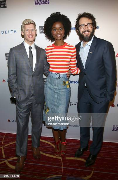 Lucas Steele Denee Benton and Josh Groban attend the 83rd Annual Drama League Awards Ceremony at Marriott Marquis Times Square on May 19 2017 in New...