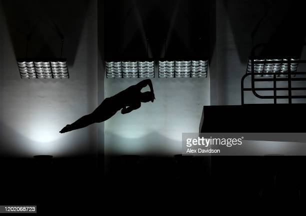 Lucas Thomson of Edinburgh Diving Club competes in the Men's 10m Platform Final on Day 3 of the British Diving Championships at Plymouth Life Centre...