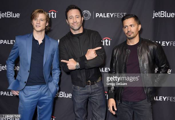 Lucas Till Alex O'Loughlin and Jay Hernandez attend The Paley Center For Media's 2019 PaleyFest LA 'Hawaii Five0' 'MacGyver' And 'Magnum PI' at Dolby...