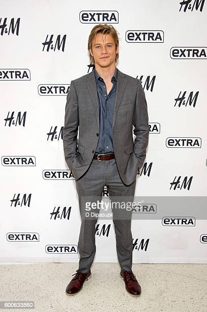 Lucas Till visits Extra at their New York studios at HM in Times Square on September 8 2016 in New York City