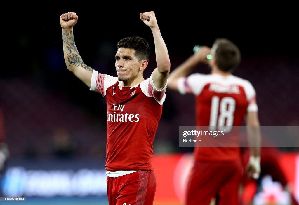 SSC Napoli v Arsenal Fc - UEFA Europa League Second leg : News Photo