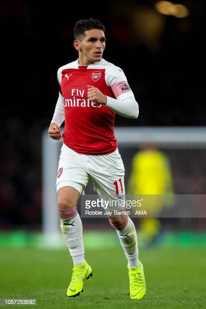 Lucas Torreira of Arsenal during the Premier League match between Arsenal FC and Liverpool FC at Emirates Stadium on November 3 2018 in London United...