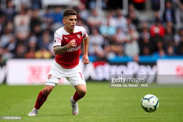 Lucas Torreira of Arsenal during the Premier League match between Newcastle United and Arsenal FC at St James Park on September 15 2018 in Newcastle...