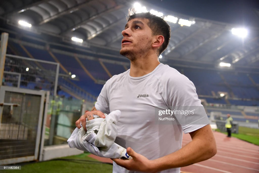 Lucas Torreira of Sampdoria during the Serie A match between Roma and Sampdoria at Olympic Stadium, Roma, Italy on 28 January 2018.