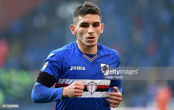 Lucas Torreira of Sampdoria during the Serie A match between UC Sampdoria and FC Torino at Stadio Luigi Ferraris on December 4 2016 in Genoa Italy