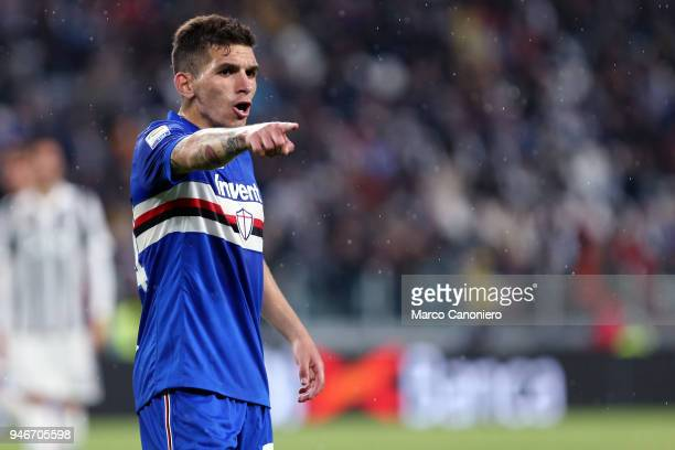Lucas Torreira of UC Sampdoria during the Serie A football match between Juventus Fc and Uc Sampdoria Juventus Fc wins 30 over Uc Sampdoria