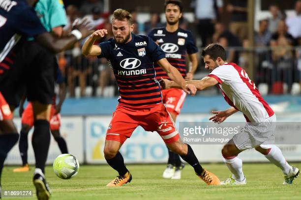 Lucas Tousard of Lyon during the friendly match between Olympique Lyonnais Lyon and Ajax Amsterdam on July 18 2017 in BourgoinJallieu France