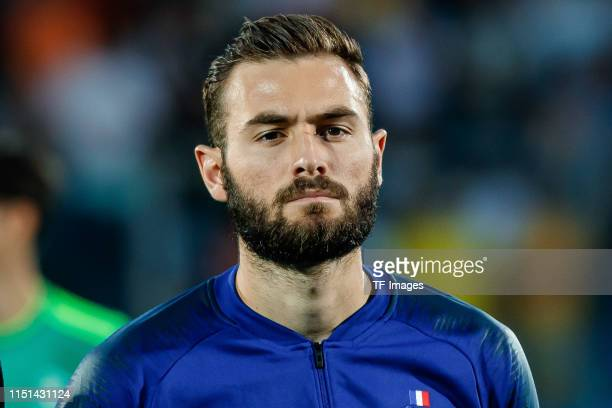 Lucas Tousart of France looks on prior to the 2019 UEFA U-21 Group C match between France and Croatia at San Marino Stadium on June 21, 2019 in...