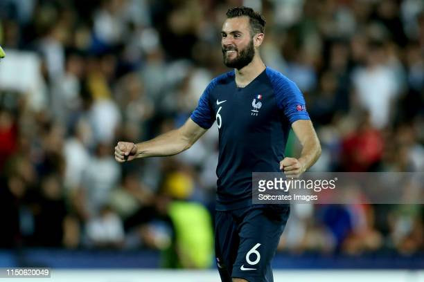 Lucas Tousart of France U21 celebrates 1-2 during the EURO U21 match between England v France at the Orogel Stadium-Dino Manuzzi on June 18, 2019 in...