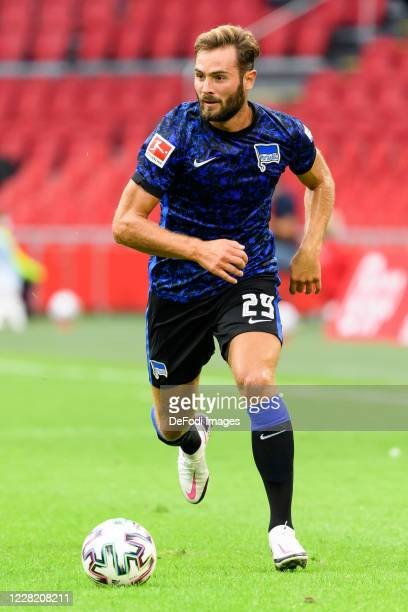 Lucas Tousart of Hertha BSC controls the ball during the pre-season friendly match between Ajax and Hertha BSC Berlin at Johan Cruijff Arena on...