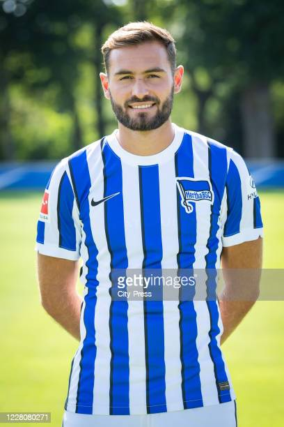 Lucas Tousart of Hertha BSC during the team presentation on August 17, 2020 in Berlin, Germany.