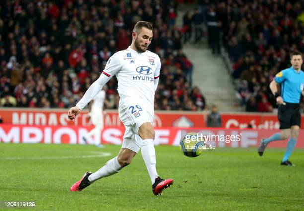 Lucas Tousart of Lyon during the Ligue 1 match between Lille OSC and Olympique Lyonnais at Stade Pierre Mauroy on March 8, 2020 in Villeneuve d'Ascq...