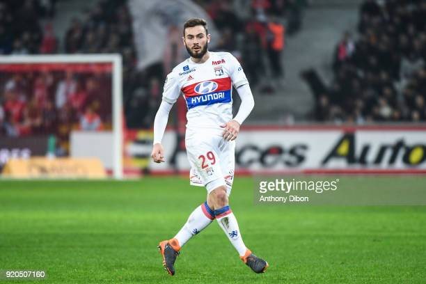 Lucas Tousart of Lyon during the Ligue 1 match between Lille OSC and Olympique Lyonnais at Stade Pierre Mauroy on February 18 2018 in Lille