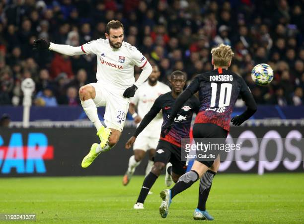 Lucas Tousart of Lyon during the UEFA Champions League group G match between Olympique Lyonnais and RB Leipzig at Groupama Stadium on December 10,...