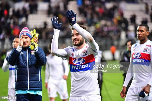 Lucas Tousart of Lyon following the Ligue 1 match between Amiens SC and Olympique Lyonnais at Stade de la Licorne on December 10 2017 in Amiens France