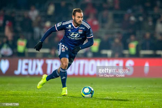 December 6: Lucas Tousart of Lyon in action during the Nimes V Lyon, French Ligue 1, regular season match at Stade des Costières on December 6th...