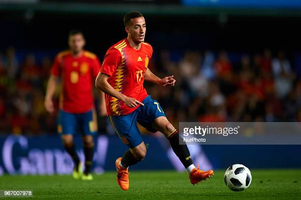 Lucas Vazquez during a International friendly match between Spain against Switzerland in La Ceramica Stadium Villarreal Spain on 03 June of 2018